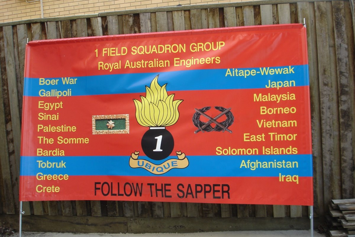 1 Field Squadron Group Banner
