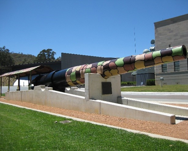 The Amiens Gun Barrel at the AWM in Canberra