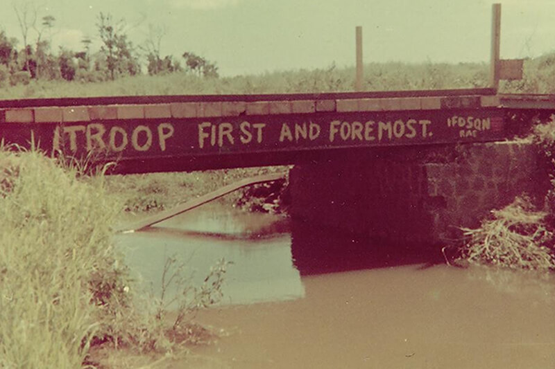 Bridge repaired by 1 Troop of 1 FD SQN - 1969