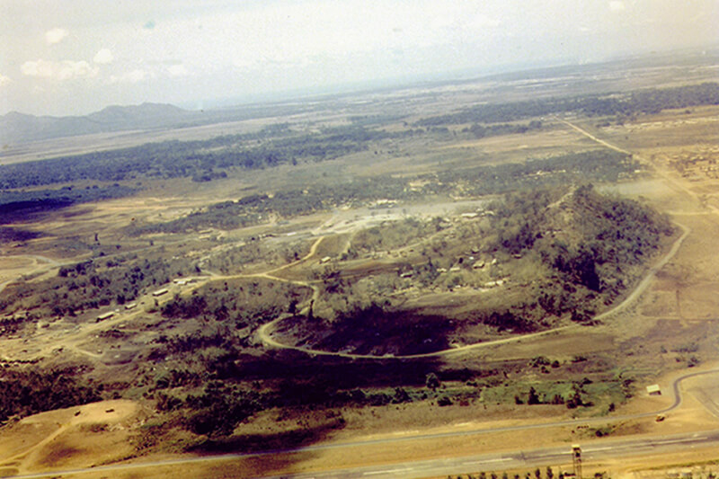 Nui Dat from the air - 1969