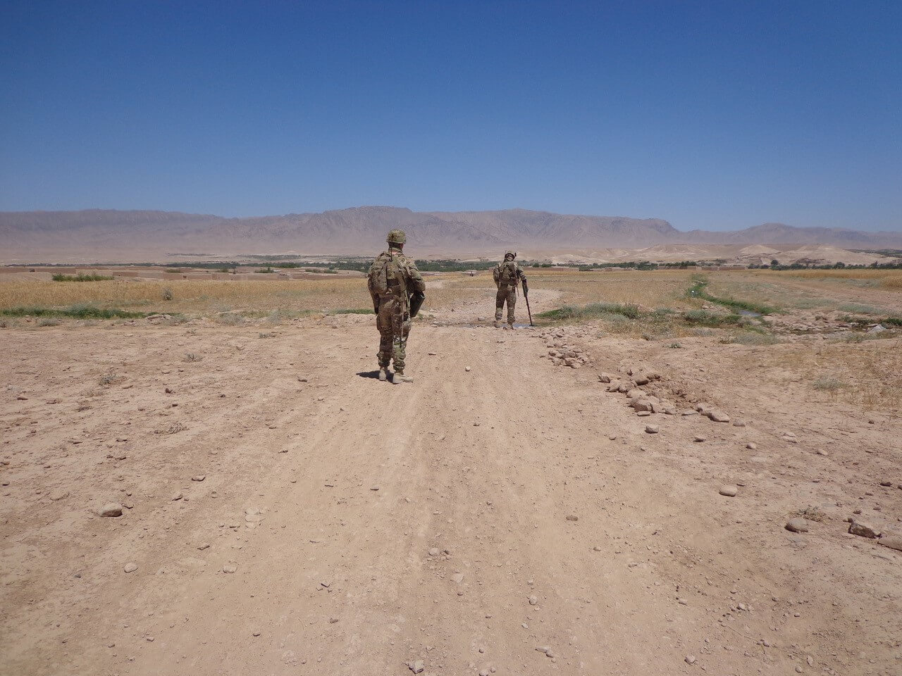 6 Section, 2 Troop conducting Route Search in Tarin Kowt, Afghanistan in 2013.