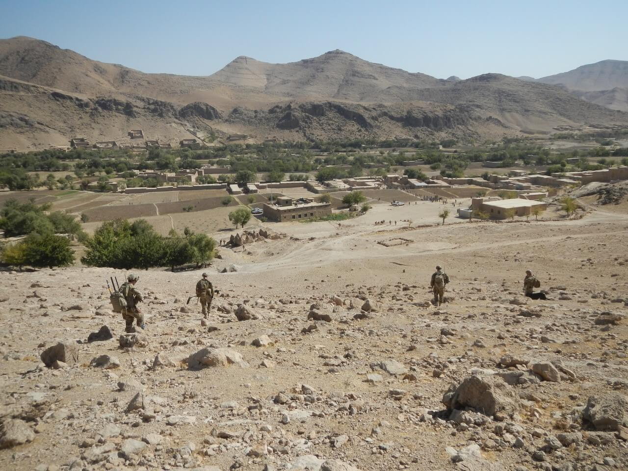 5 Section, 2 Troop on patrol in Uruzgan Province, Afghanistan in 2013.