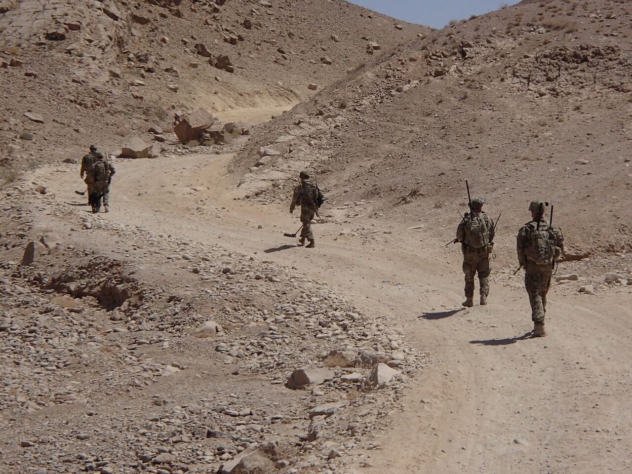 6 Section, 2 Troop on patrol in Uruzgan Province in 2013.